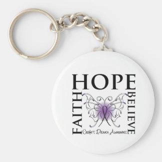 La esperanza cree la fe - la enfermedad de Crohn Llavero Redondo Tipo Pin