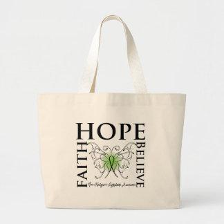 La esperanza cree la fe - linfoma Non-Hodgkin Bolsas De Mano