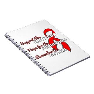 La esperanza de la ayuda de la enfermedad cardiova libretas espirales