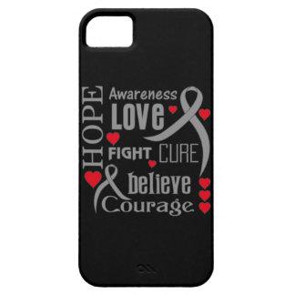 La esperanza de la diabetes redacta el collage iPhone 5 carcasas