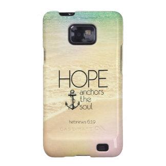 La esperanza del 6:19 de los hebreos ancla el alma samsung galaxy SII fundas