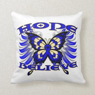 La esperanza del cáncer de colon cree la mariposa almohadas