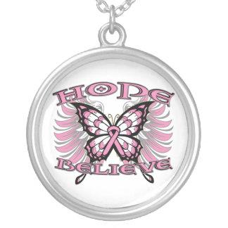 La esperanza del cáncer de pecho cree la mariposa joyeria