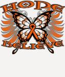 La esperanza del cáncer del riñón cree la mariposa camisetas
