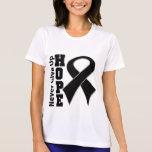 La esperanza del melanoma nunca da para arriba camisetas