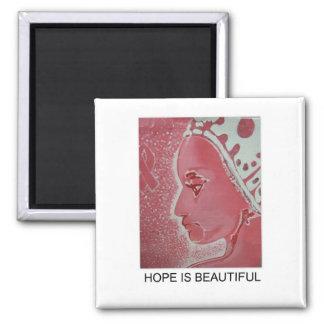 La esperanza es imán hermoso del cáncer de pecho
