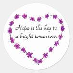 La esperanza es la llave - pegatina
