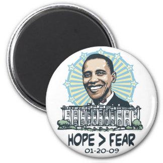 La esperanza es mayor que el engranaje de Obama de Imán Redondo 5 Cm