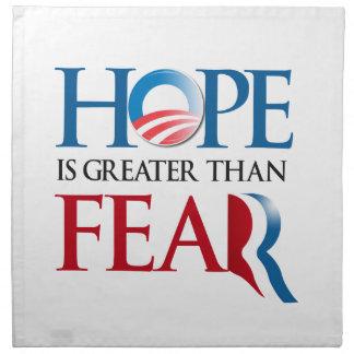 La esperanza es mayor que Romney Fear.png Servilletas De Papel