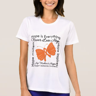 La esperanza es todo - conciencia de la leucemia camisetas