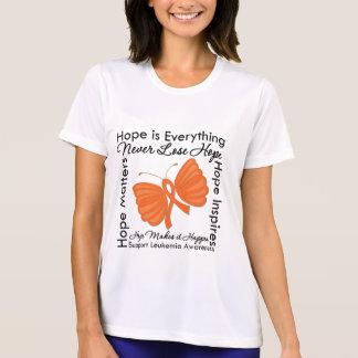 La esperanza es todo - conciencia de la leucemia remeras