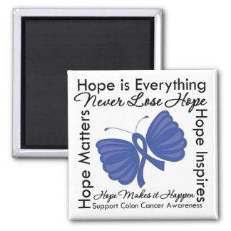 La esperanza es todo - conciencia del cáncer de imán cuadrado