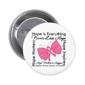La esperanza es todo - conciencia del cáncer de pe pin redondo 5 cm