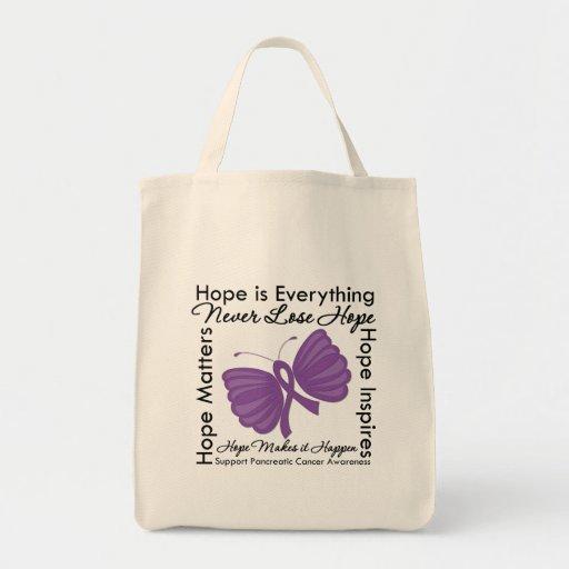 La esperanza es todo - conciencia del cáncer pancr bolsas de mano