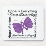 La esperanza es todo - conciencia del cáncer pancr alfombrillas de ratones