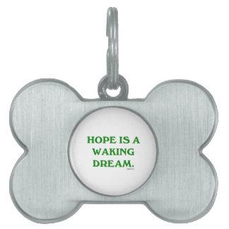 La esperanza es un sueño el despertar (la sabidurí placa mascota