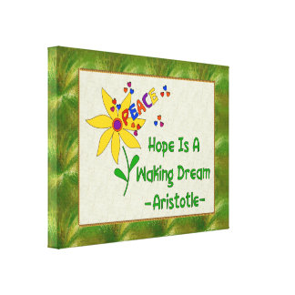 La esperanza es un sueño el despertar impresión en lona estirada