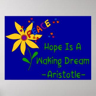 La esperanza es un sueño el despertar impresiones