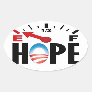La esperanza está en vacío - Obama anti Pegatina Ovalada