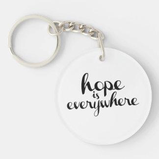 La esperanza está por todas partes llavero redondo acrílico a una cara