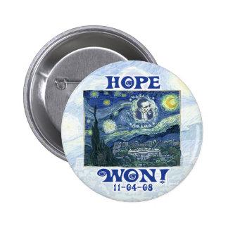 La esperanza ganó a presidente Obama Gear Pin Redondo 5 Cm