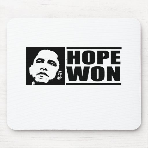 La esperanza ganó la camiseta tapete de ratones