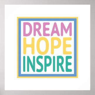 La esperanza ideal inspira póster