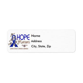 La esperanza importa 3 CFS Etiqueta De Remite