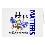 La esperanza importa autismo de la mariposa felicitación