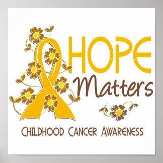 La esperanza importa cáncer de 3 niñeces posters