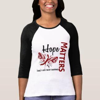 La esperanza importa cáncer de cabeza y cuello de camisas