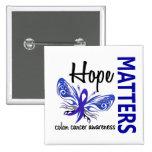 La esperanza importa cáncer de colon de la maripos pin