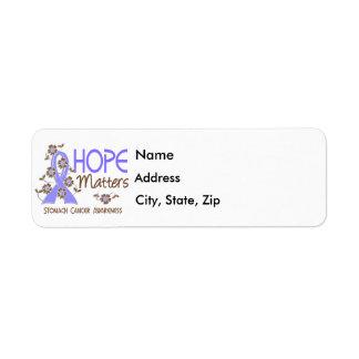La esperanza importa cáncer de estómago 3 etiqueta de remitente