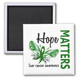 La esperanza importa cáncer de hígado de la maripo imán cuadrado