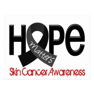 La esperanza importa cáncer de piel 2 tarjetas postales