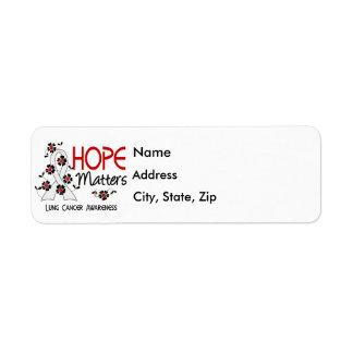 La esperanza importa cáncer de pulmón 3 etiqueta de remite
