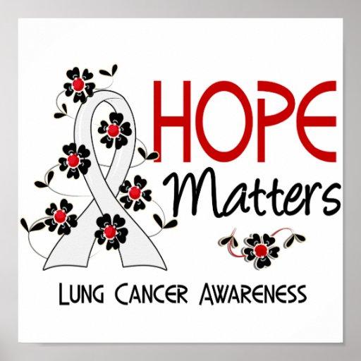 La esperanza importa cáncer de pulmón 3 posters