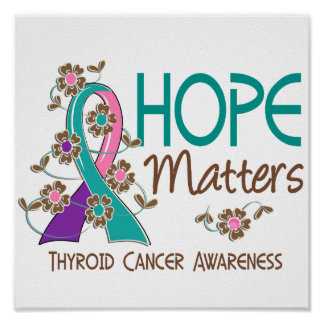 La esperanza importa cáncer de tiroides 3 poster