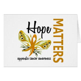 La esperanza importa cáncer del apéndice de la tarjeta de felicitación