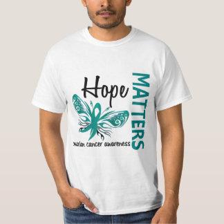 La esperanza importa cáncer ovárico de la mariposa remeras