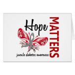 La esperanza importa diabetes juvenil de la maripo tarjetas