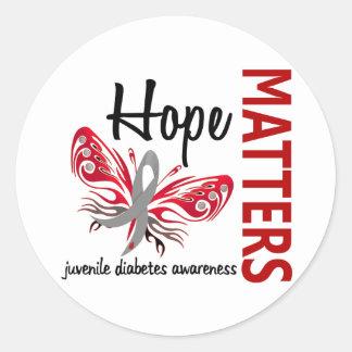 La esperanza importa diabetes juvenil de la pegatina redonda