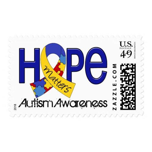 La esperanza importa el autismo 2 estampillas
