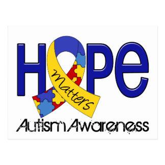 La esperanza importa el autismo 2 tarjeta postal