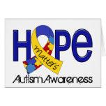 La esperanza importa el autismo 2 tarjeton