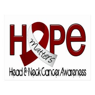 La esperanza importa el cáncer de cabeza y cuello postal