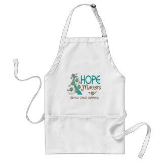 La esperanza importa el cáncer de cuello del útero delantal