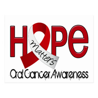 La esperanza importa el cáncer oral 2 tarjeta postal