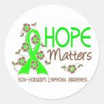 La esperanza importa el linfoma Non-Hodgkin 3 Etiqueta Redonda