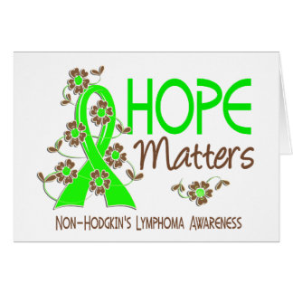 La esperanza importa el linfoma Non-Hodgkin 3 Tarjetón